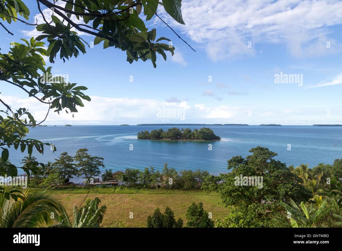 Marovo Lagoon in Solomon Islands - Stock Image