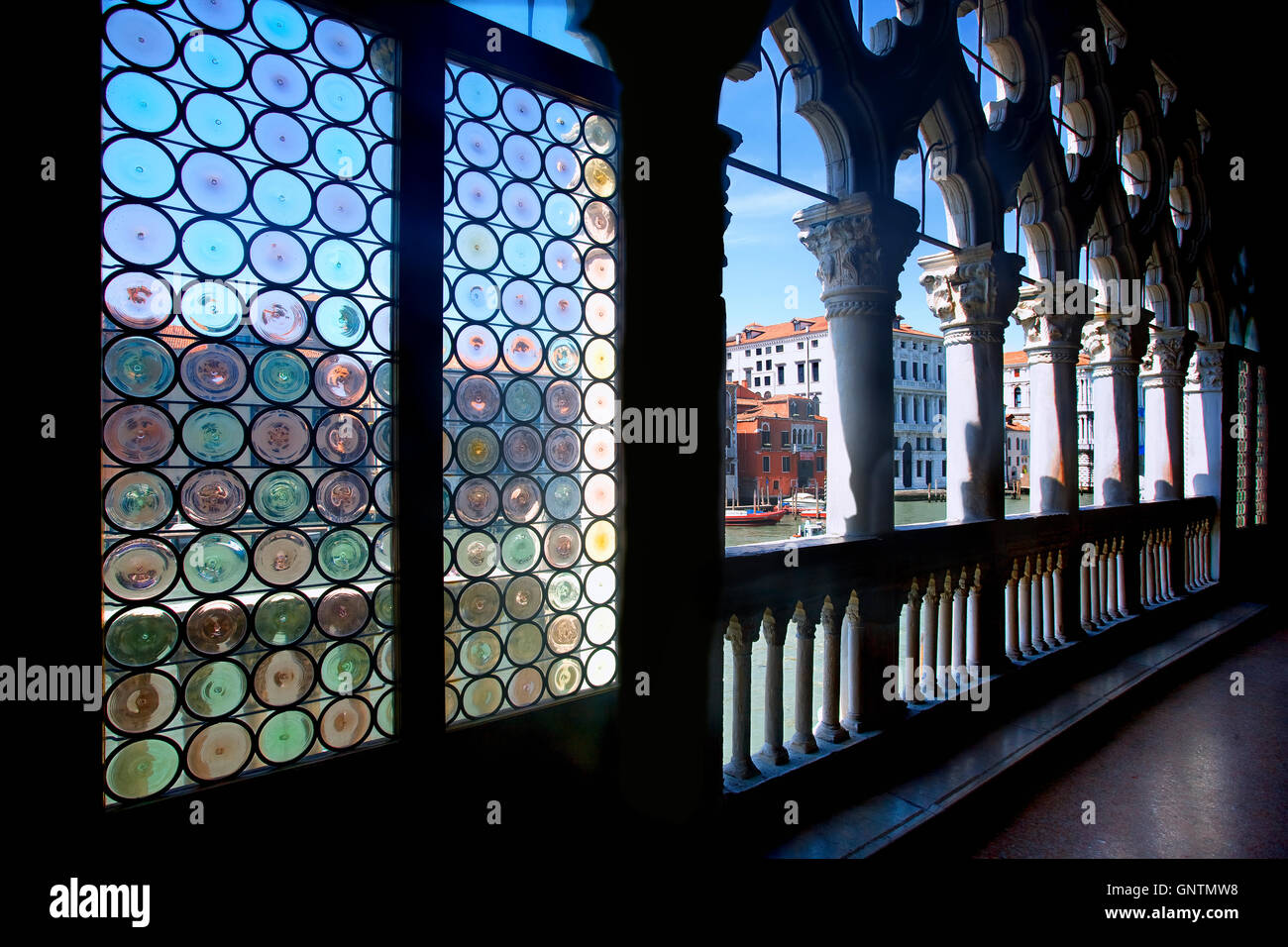 Interior of Ca' d'Oro palace, Venice - Stock Image