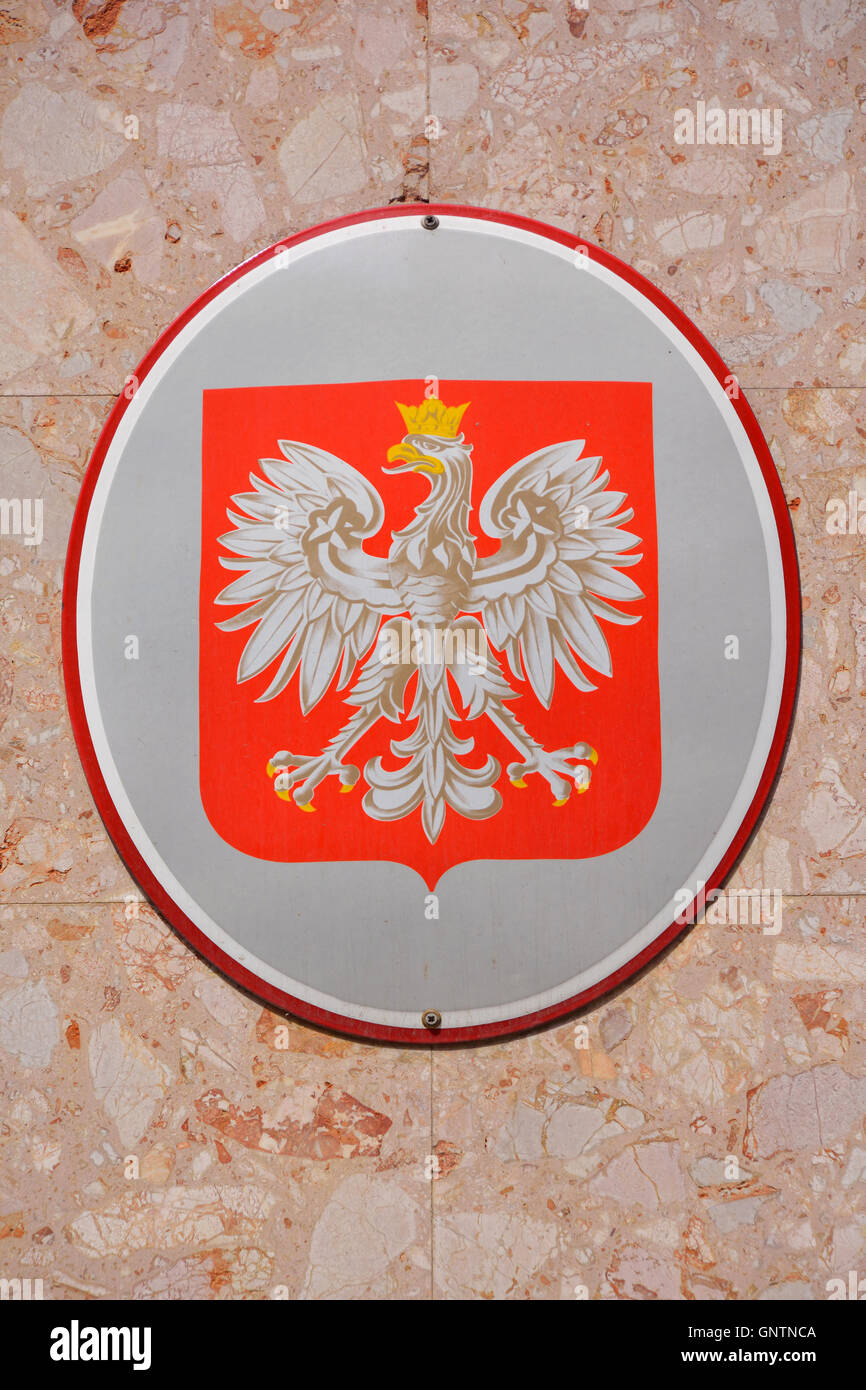 Coat of arms of the Republic of Poland. - Stock Image