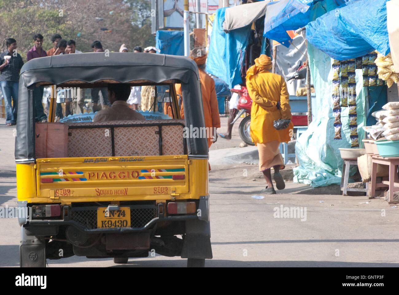 Tut Tut at Ghandi Memorial, Kanyakumari, Tamil Nadu, Southern India, Asia. - Stock Image