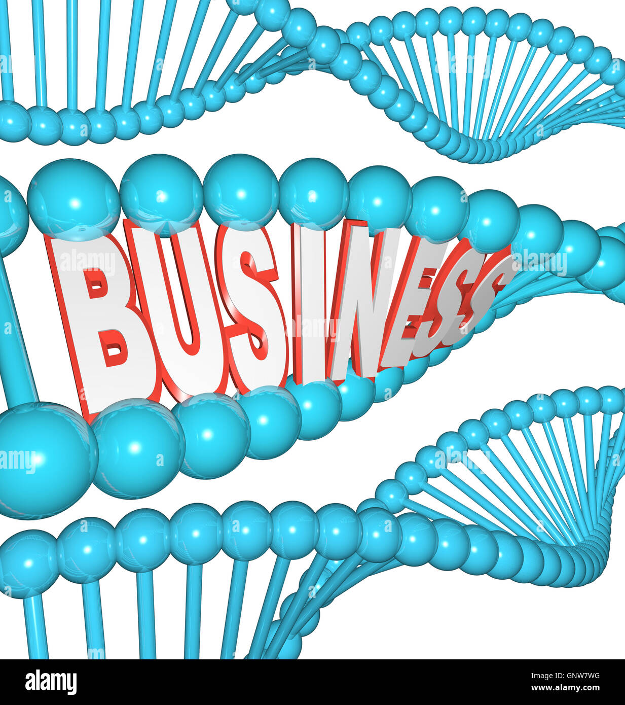 Business is in Your DNA Inherited Drive to Succeed - Stock Image