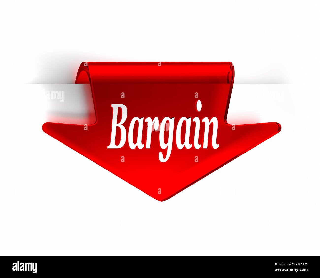 Bargain Red - Stock Image