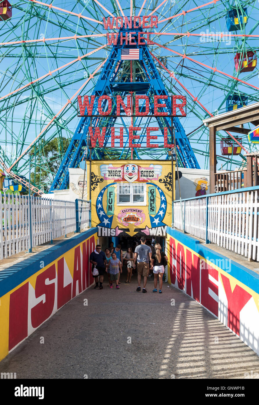 Entrance To Coney Island Amusement Park And The Wonder