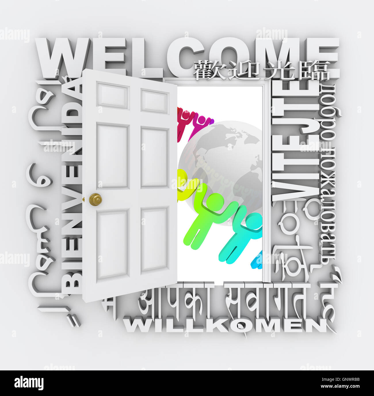 Greeting greetings stock photos greeting greetings stock images welcome word door greeting people around world stock image m4hsunfo