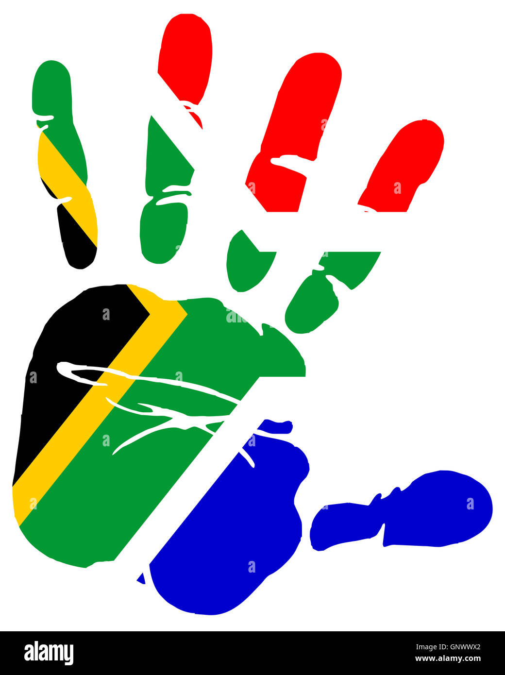 Hand Print Flag Of South Africa Stock Photo 116739114 Alamy