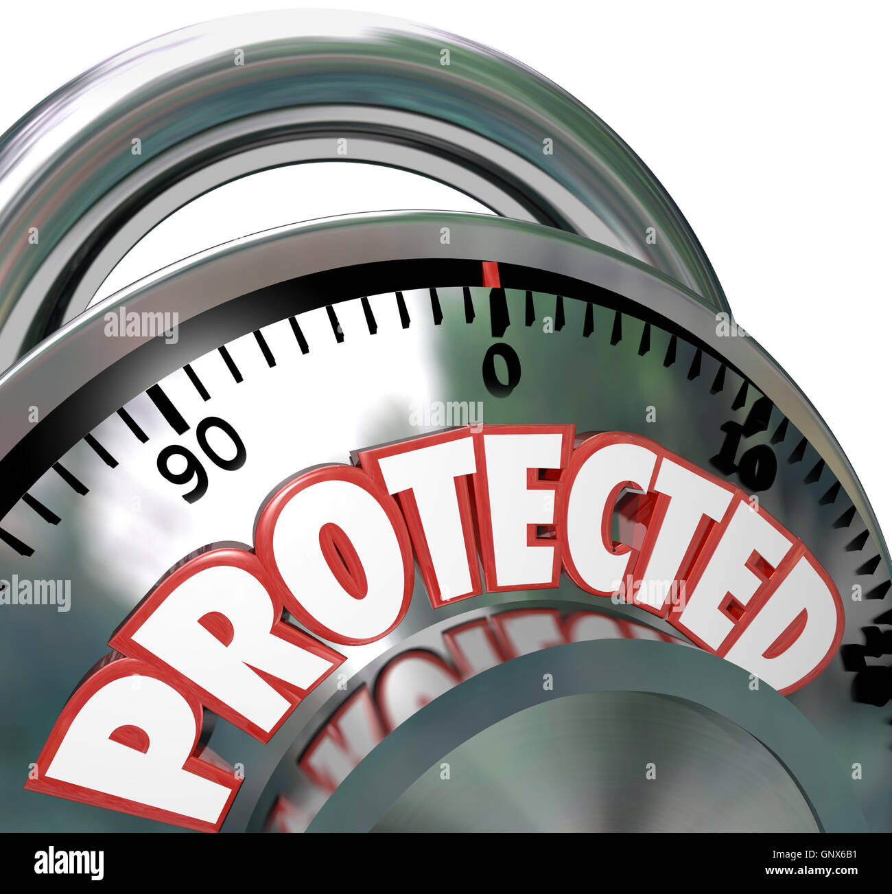 Protected Combination Lock Security Protection - Stock Image