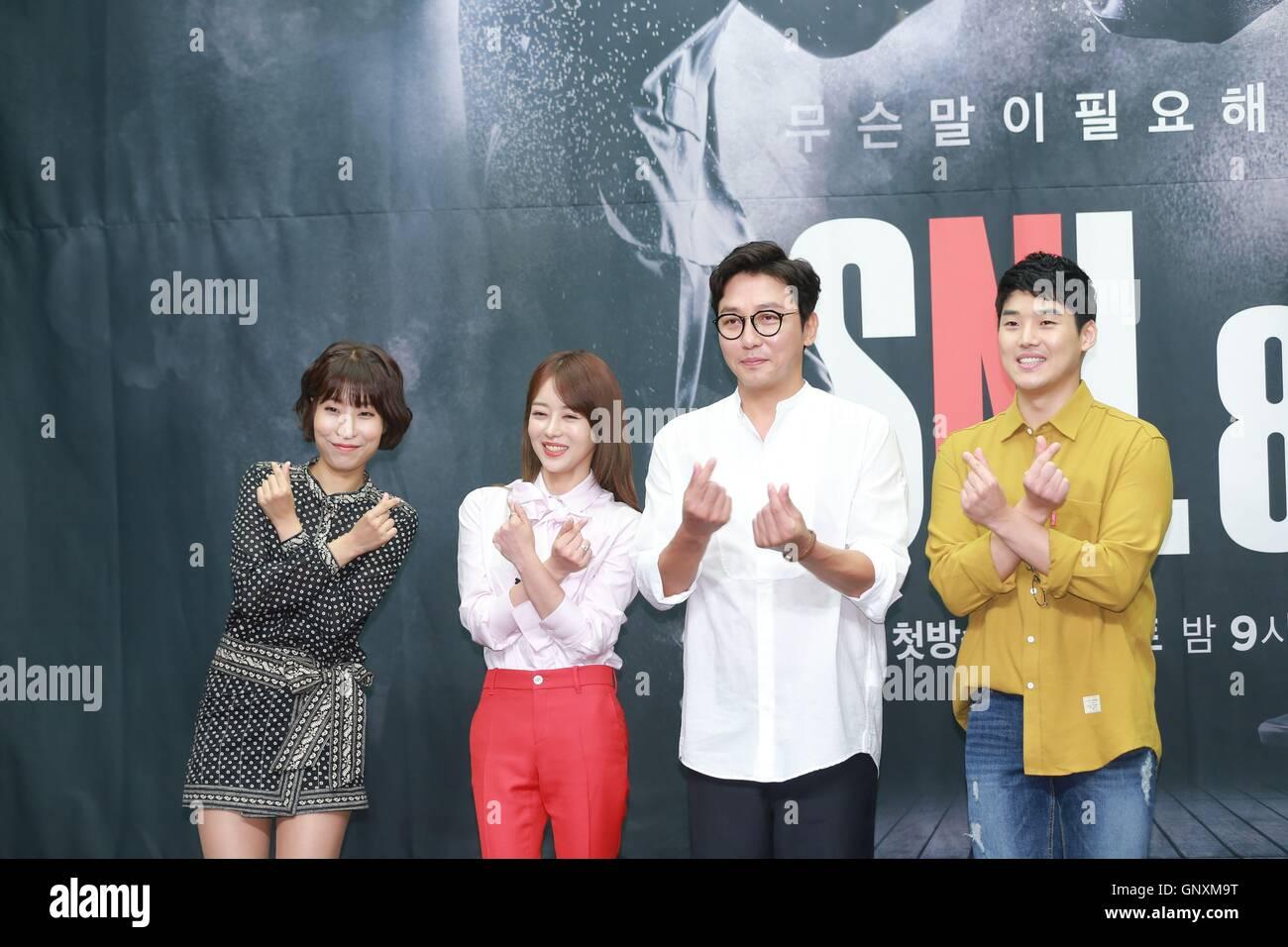 Seoul, Korea  31st Aug, 2016  Jae hun Tak, Se yeong Lee, Do-won Gwak