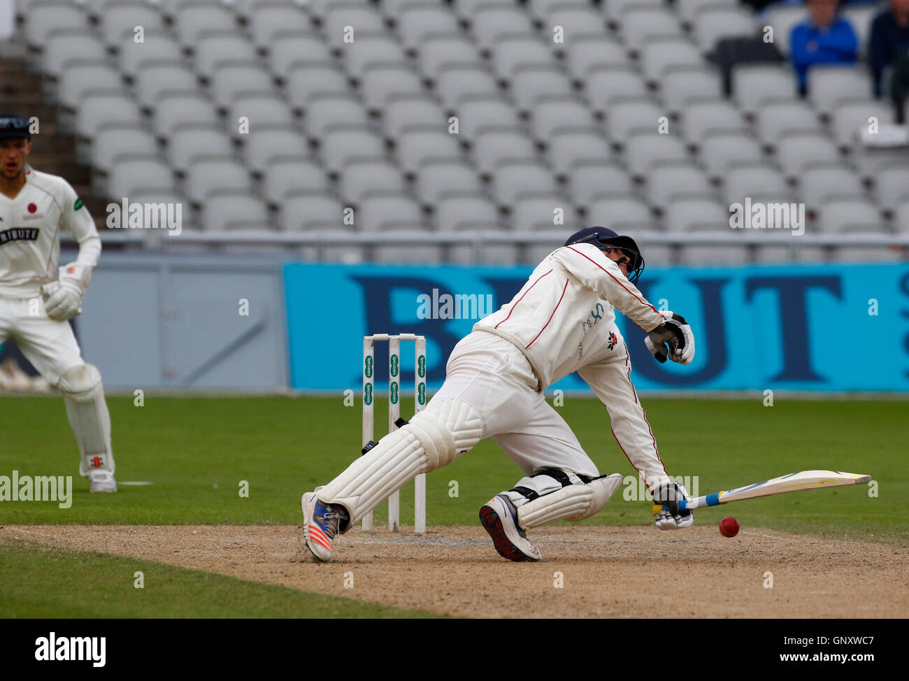 Old Trafford, Manchester, UK. 01st Sep, 2016. Specsavers County Championship. Lancashire versus Somerset. Lancashire - Stock Image