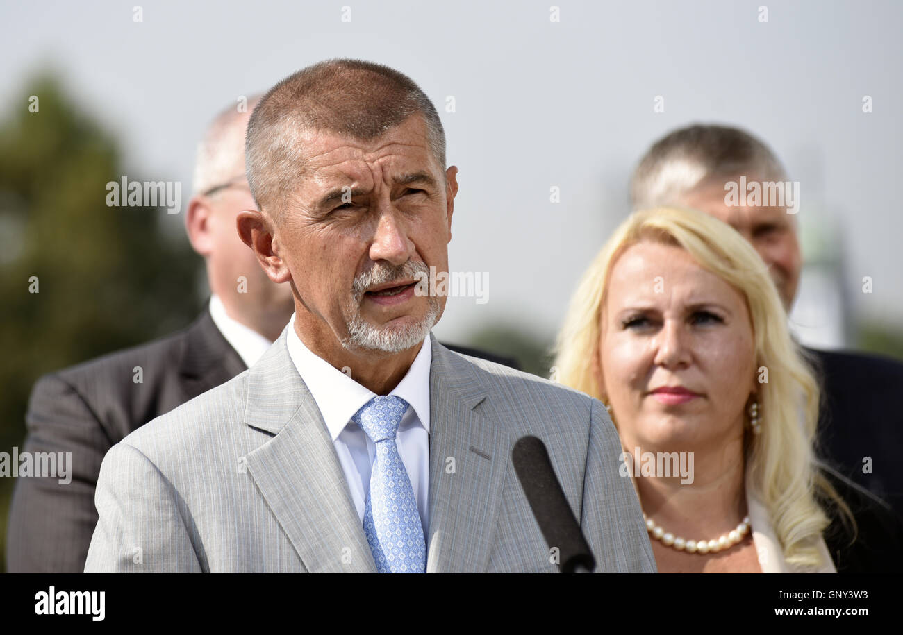 The Czech government ANO movement launched the final stage of its campaign before the October 7-8 regional election - Stock Image