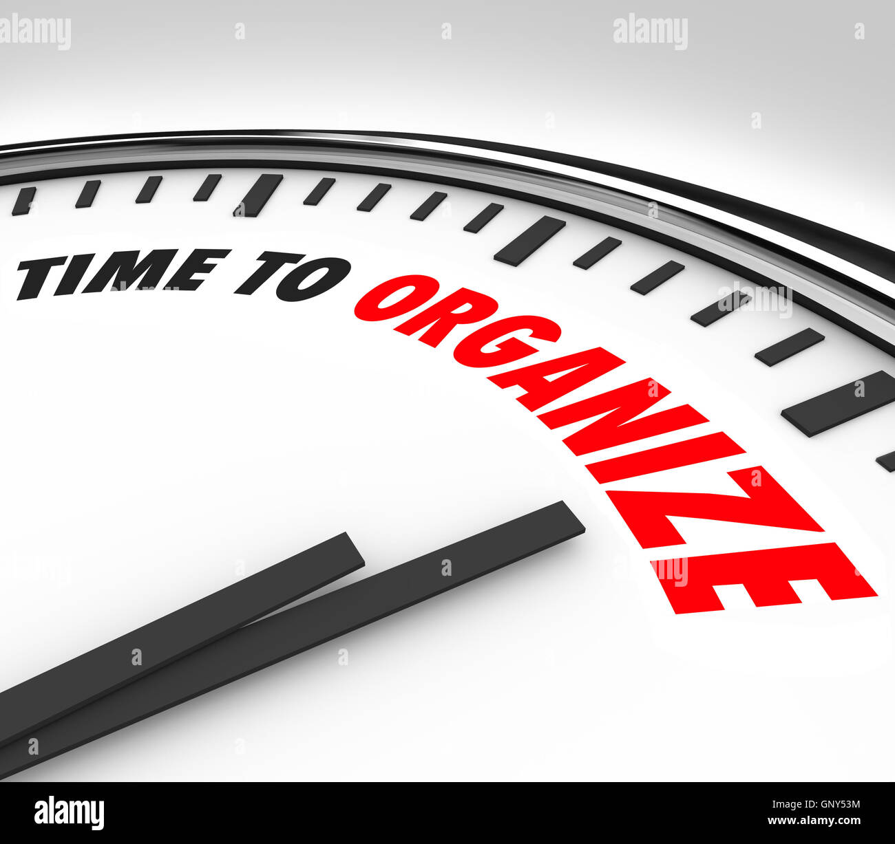 Time to Organize Clock Now is Moment to Coordinate Order - Stock Image