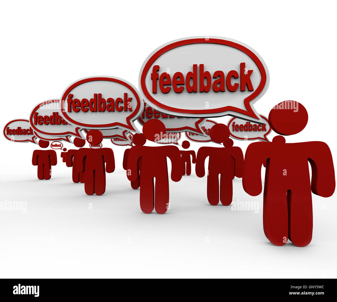 Feedback - Many People Talking and Giving Opinions - Stock Image