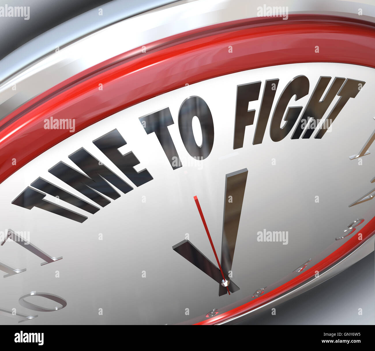 Time to Fight Clock Resistance Fighting for Rights - Stock Image