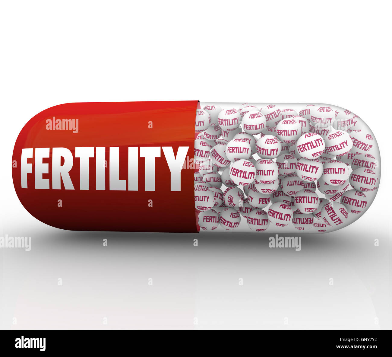 Fertility Capsule Pill Treatment for Infertility - Stock Image