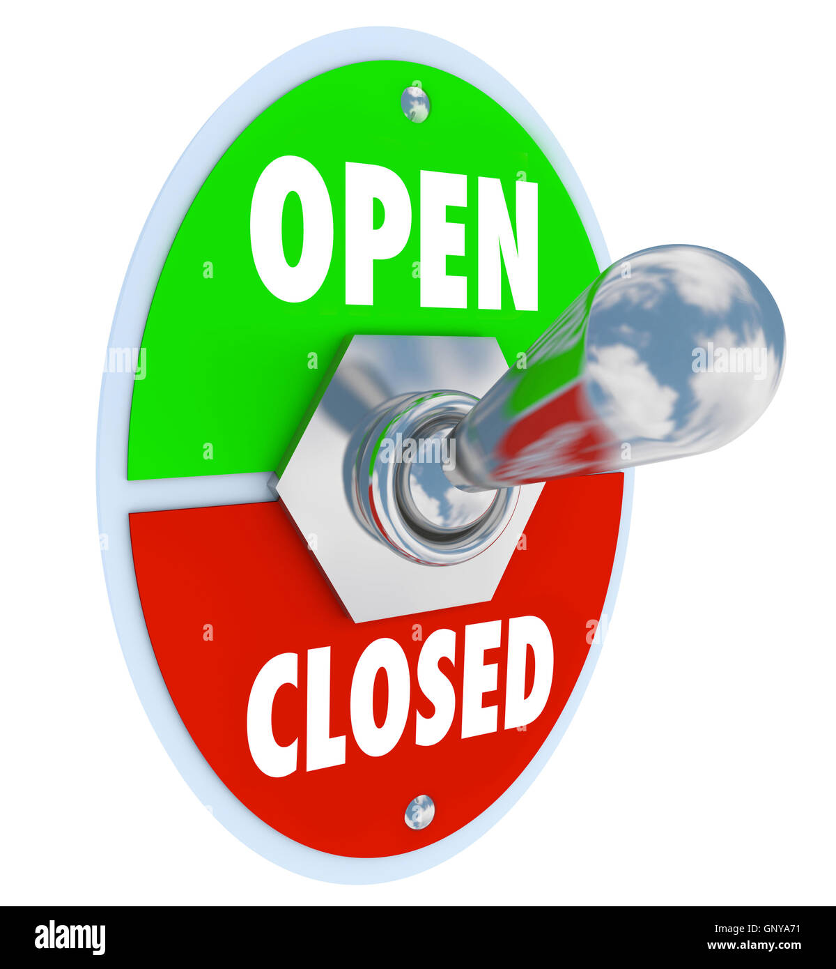 Open Vs Closed Toggle Switch Opening Store Business - Stock Image