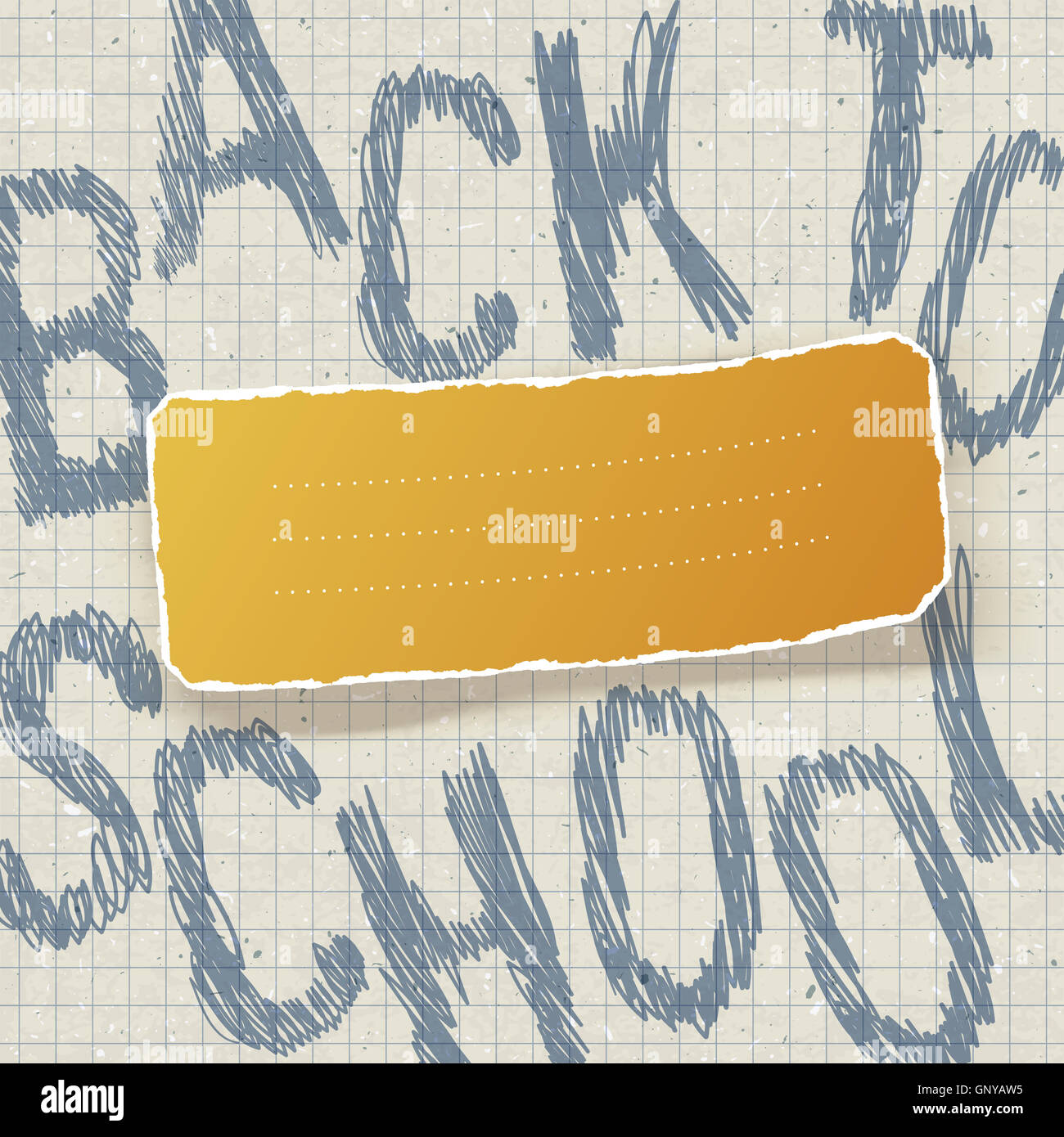 Back to school. Education themed abstract background, vector ill - Stock Image