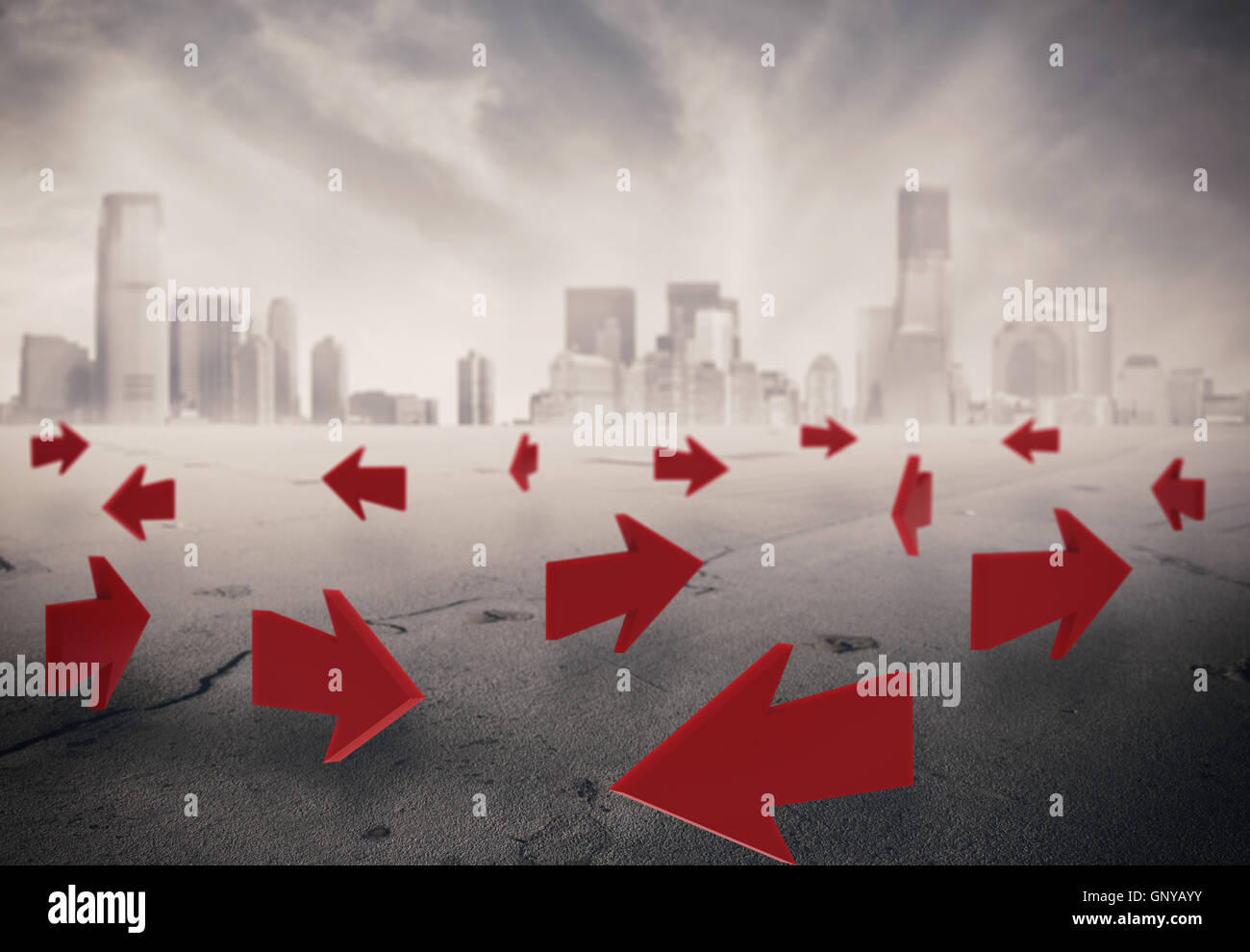 3D Rendering directions - Stock Image