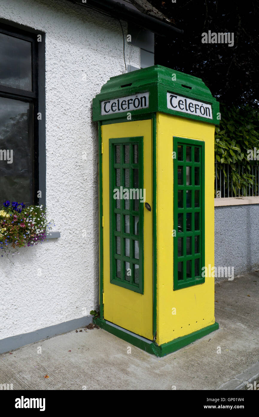 Irish phone box - Stock Image