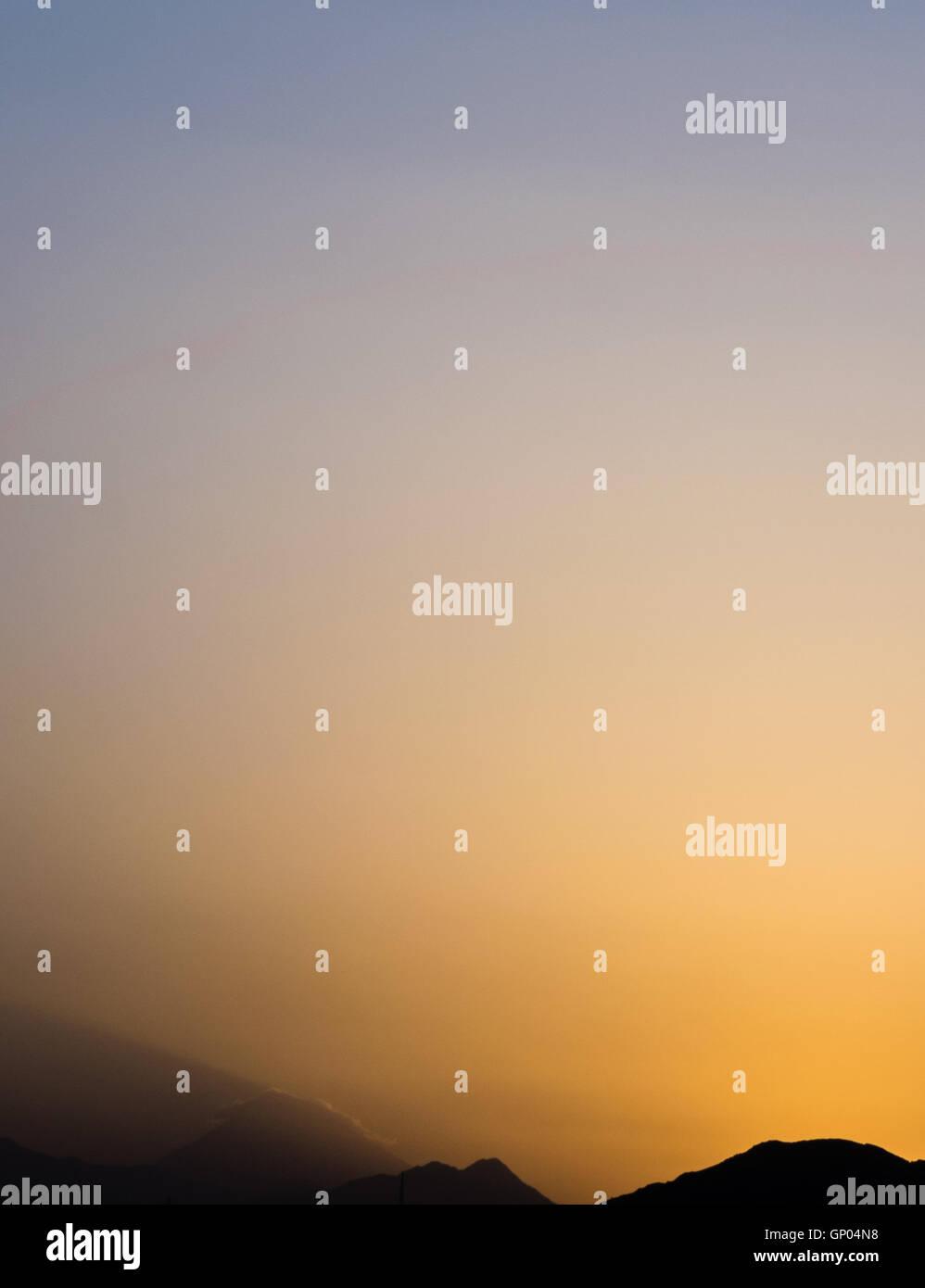 damavand peak in sun rise - Stock Image