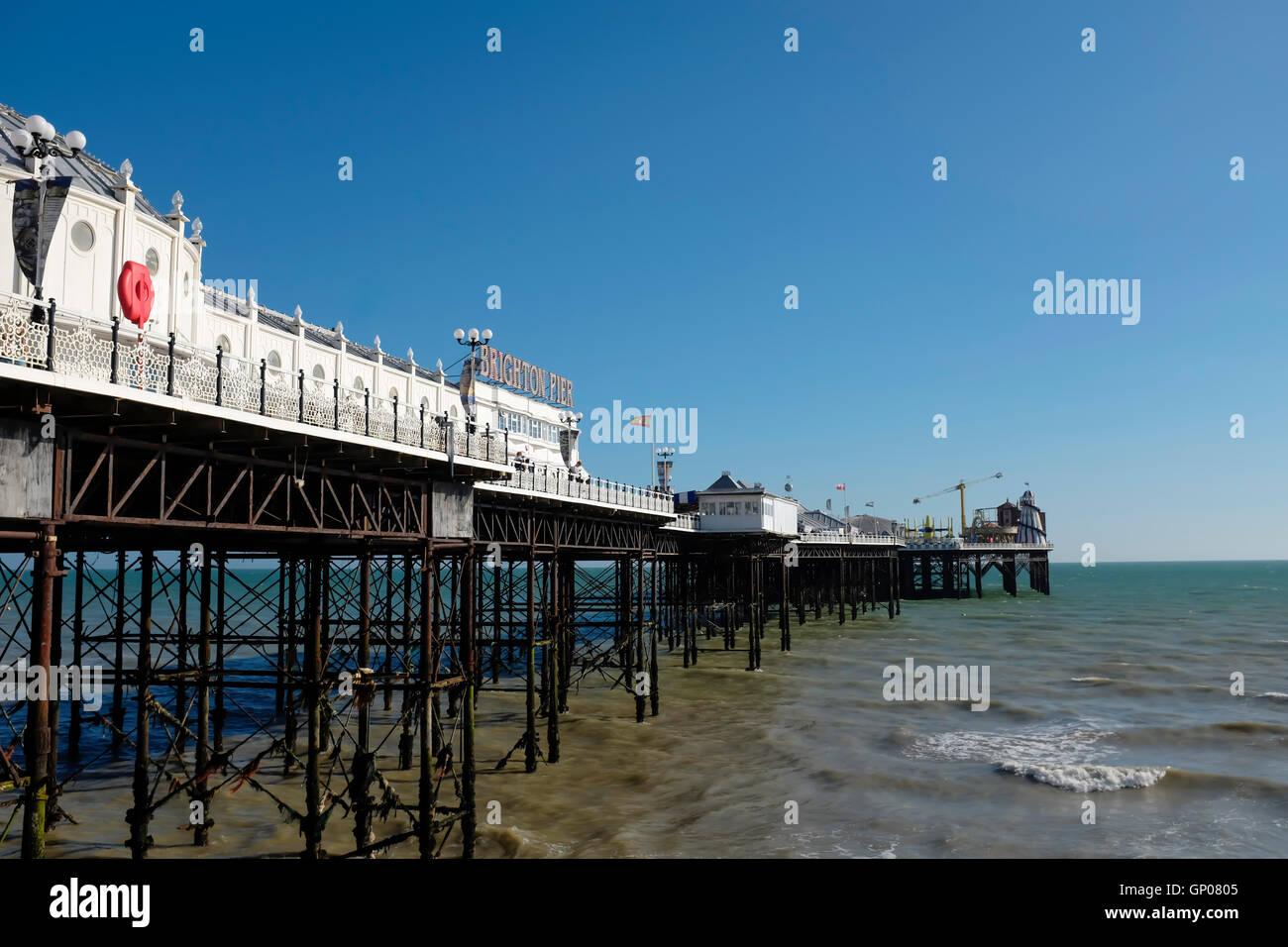 Brighton Pier, Bighton Beach, Sussex,United Kingdom - Stock Image