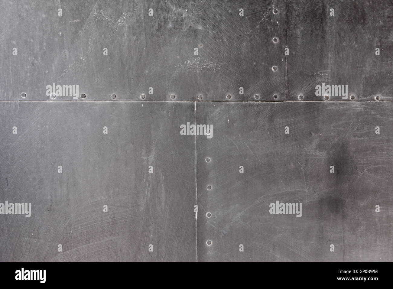 Metal plate steel background or texture - Stock Image