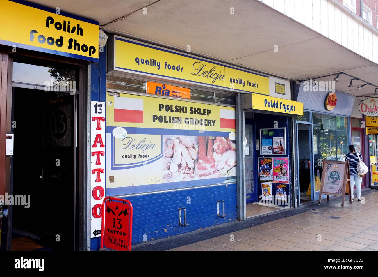 bab88312eeb59 Polski Sklep Polish Grocery Foods store in Crawley West Sussex UK - Stock  Image