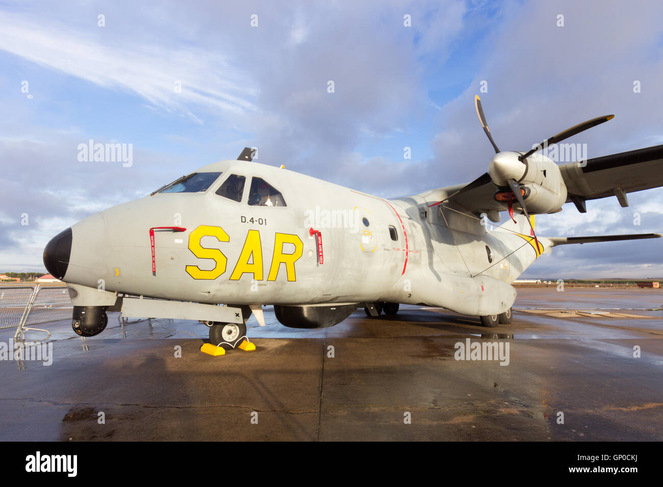 Spanish Air Force Search and Rescue Casa CN-235 maritime patrol aircraft. - Stock Image