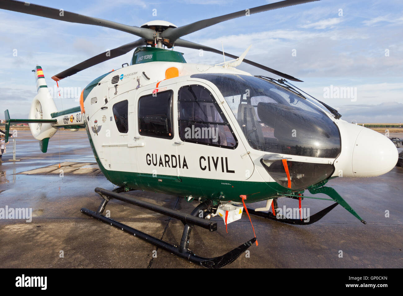 Spanish Guardia Civil Eurcopter EC-135 helicopter Stock Photo