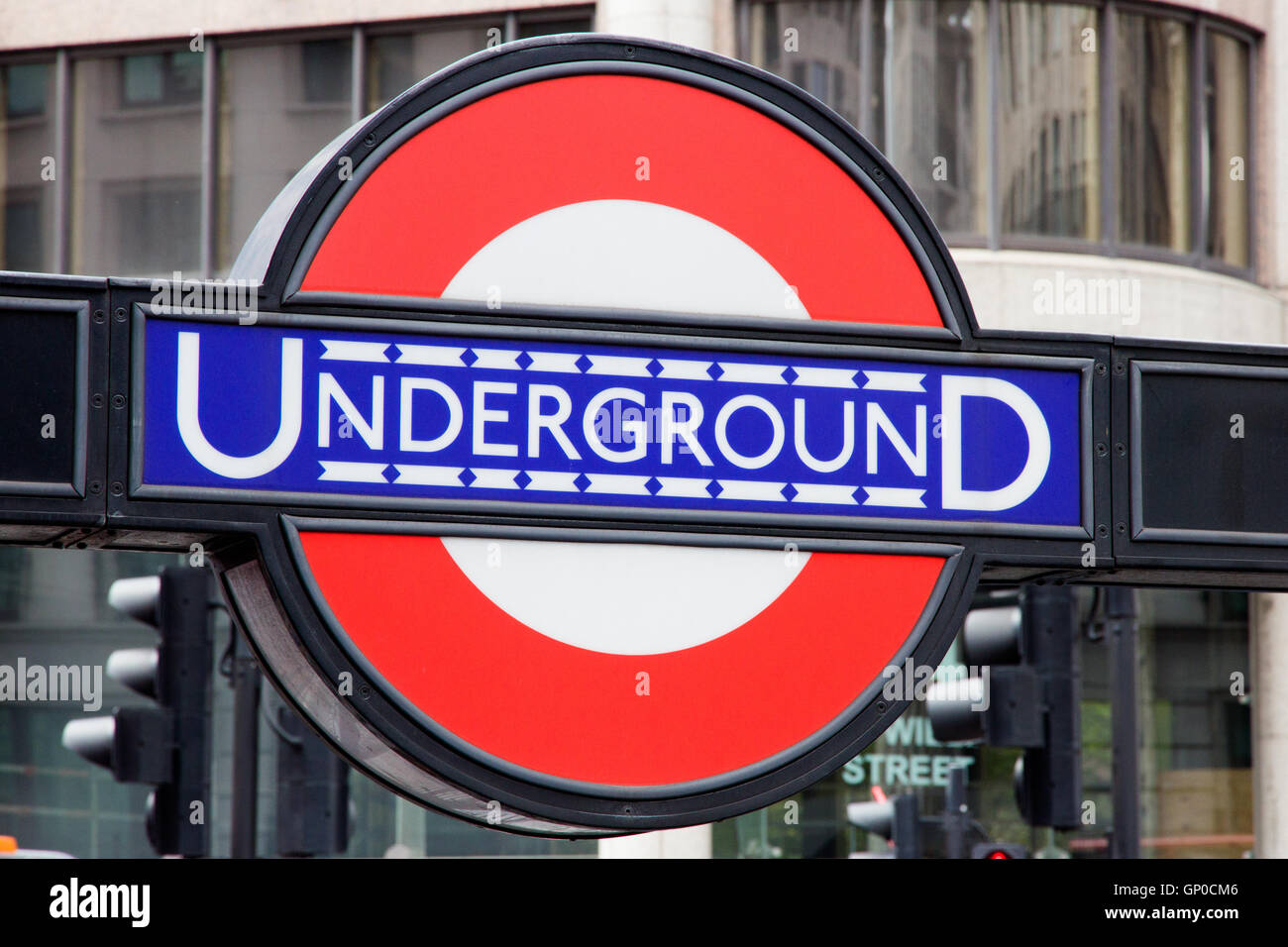 The Tube Symbol In London Stock Photos The Tube Symbol In London