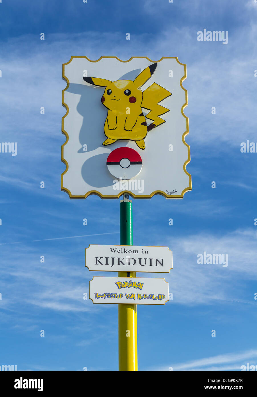 The Hague, the Netherlands - August 25, 2016: Pokémon GO hot spot at Kijkduin The Hague, the Netherlands - Stock Image
