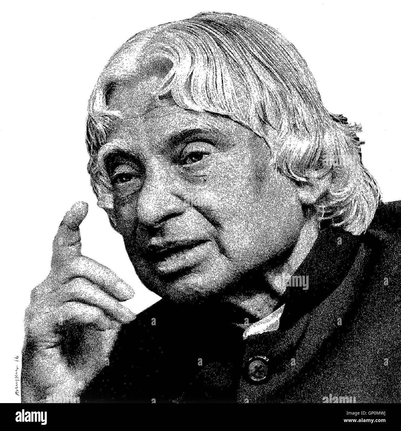 Indian president dr avul pakir jainulabdeen abdul kalam drawing india asia