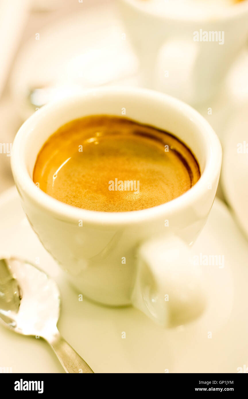 cup of espresso coffee - Stock Image