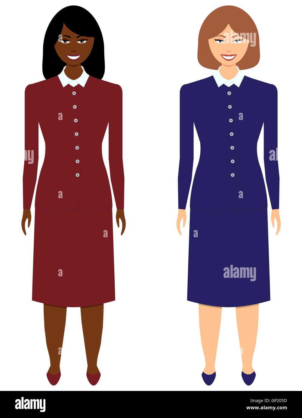 Set of Business Women - Stock Vector