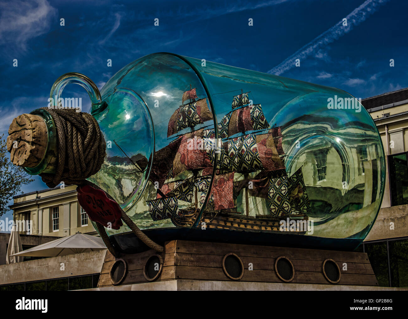 Ship in a Bottle - Stock Image