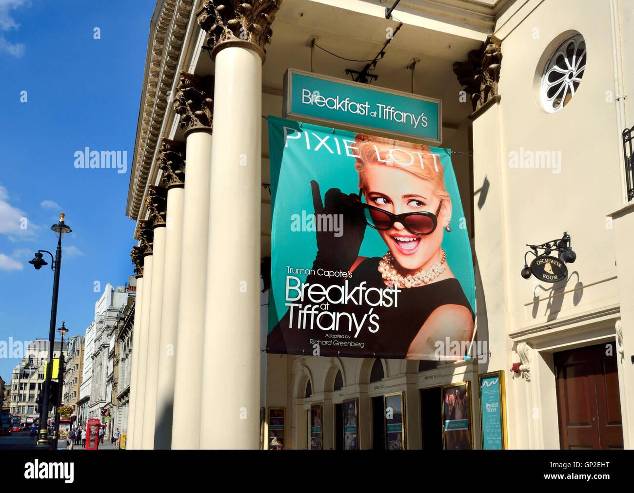London, England, UK. Pixie Lott in Breakfast at Tiffany's a t the London Palladium, August 2016 - Stock Image