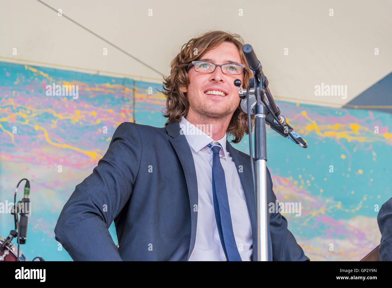 The Milk Carton Kids  at Canmore Folk Music Festival, Canmore, Alberta, Canada - Stock Image