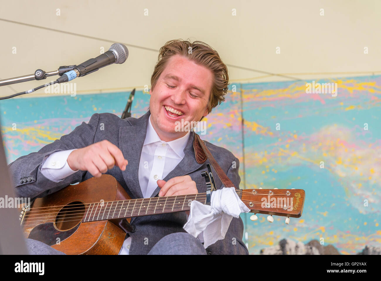 The Milk Carton Kids performing at Canmore Folk Music Festival, Canmore, Alberta, Canada - Stock Image