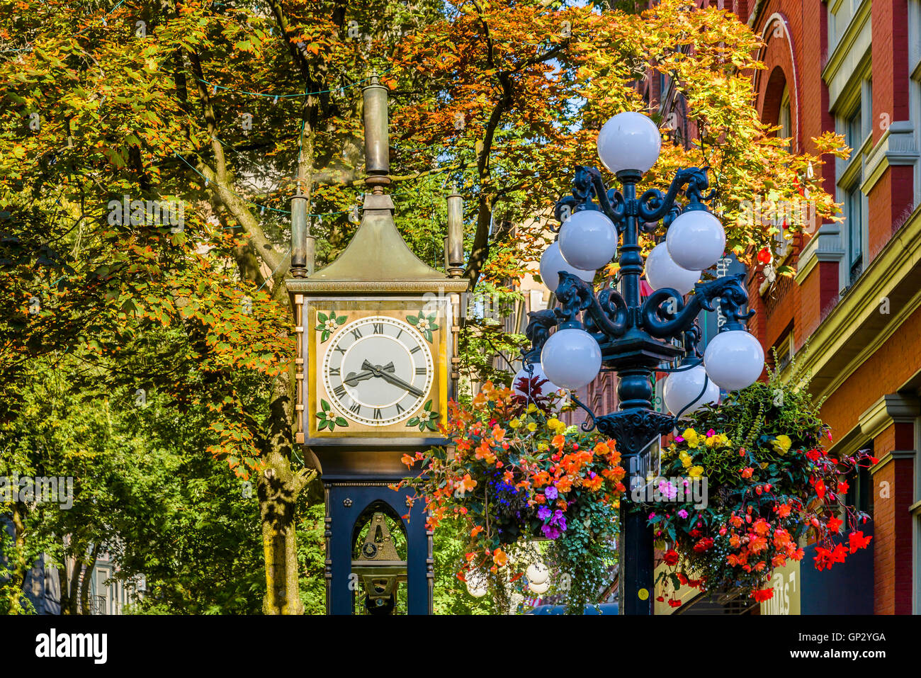 The Steam Clock, Gastown, Vancouver, British Columbia, Canada - Stock Image