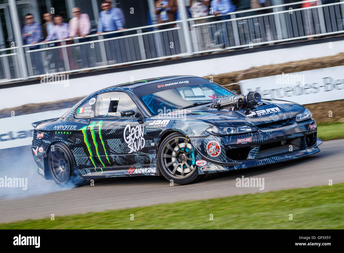 Butsy Butleru0027s Nissan 200ZX S15 Drift Car At The 2016 Goodwood Festival Of  Speed, Sussex