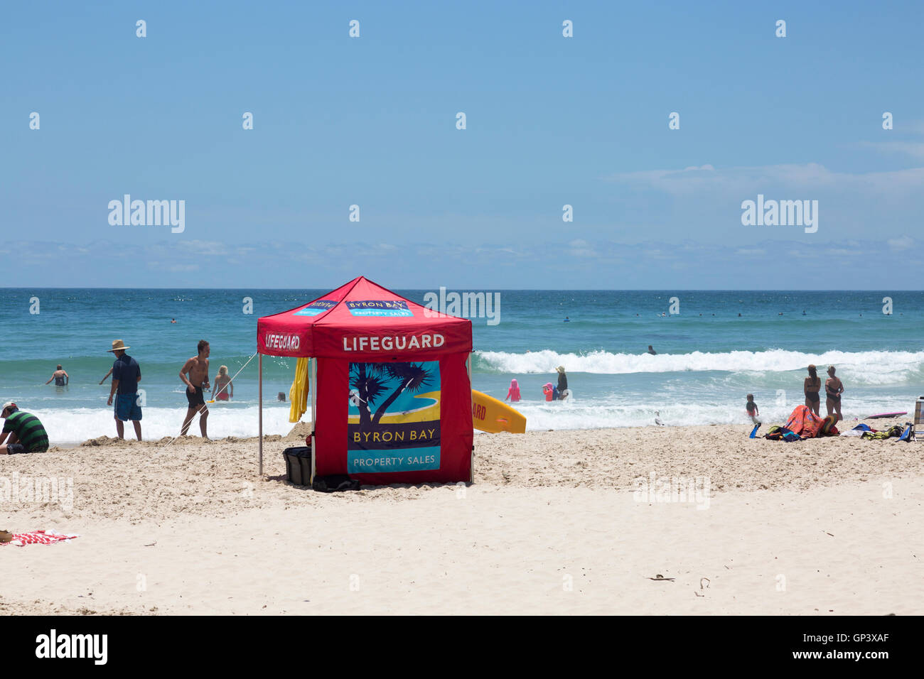 surf rescue lifeguard tent on broken head beach in byron baynew south walesaustralia