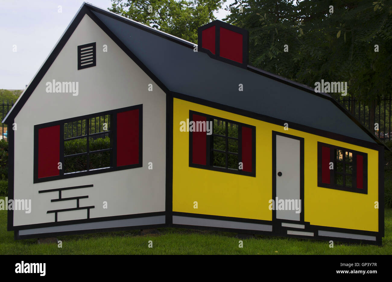 Roy Lichtenstein optical illusion house at the national gallery of ...