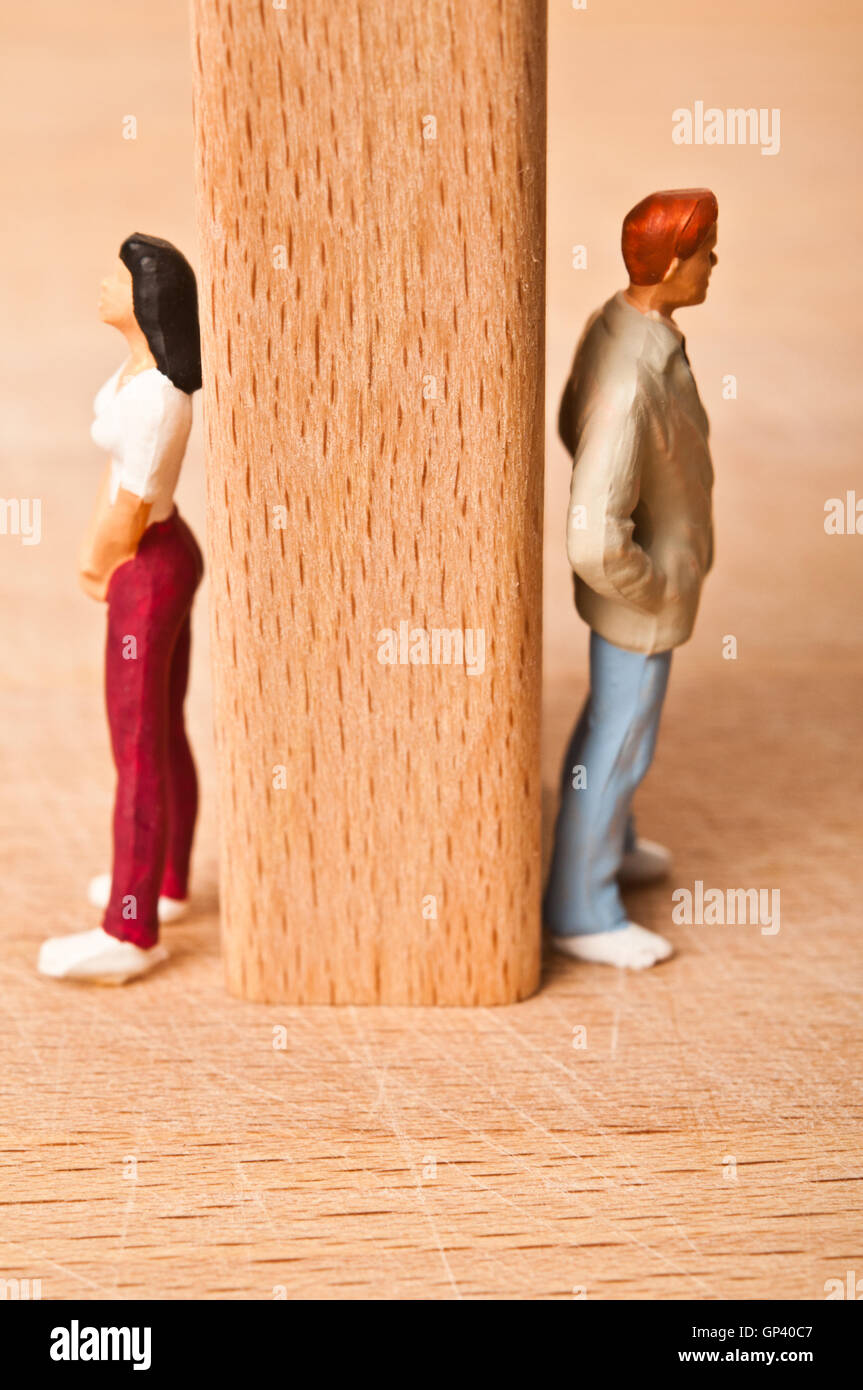 couple break-up and lack of communication concept - Stock Image