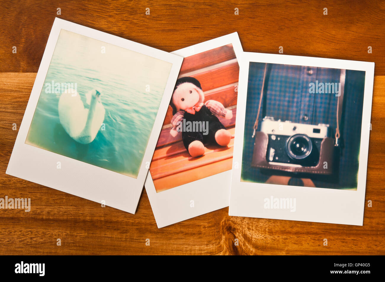 Polaroids photographs - Stock Image
