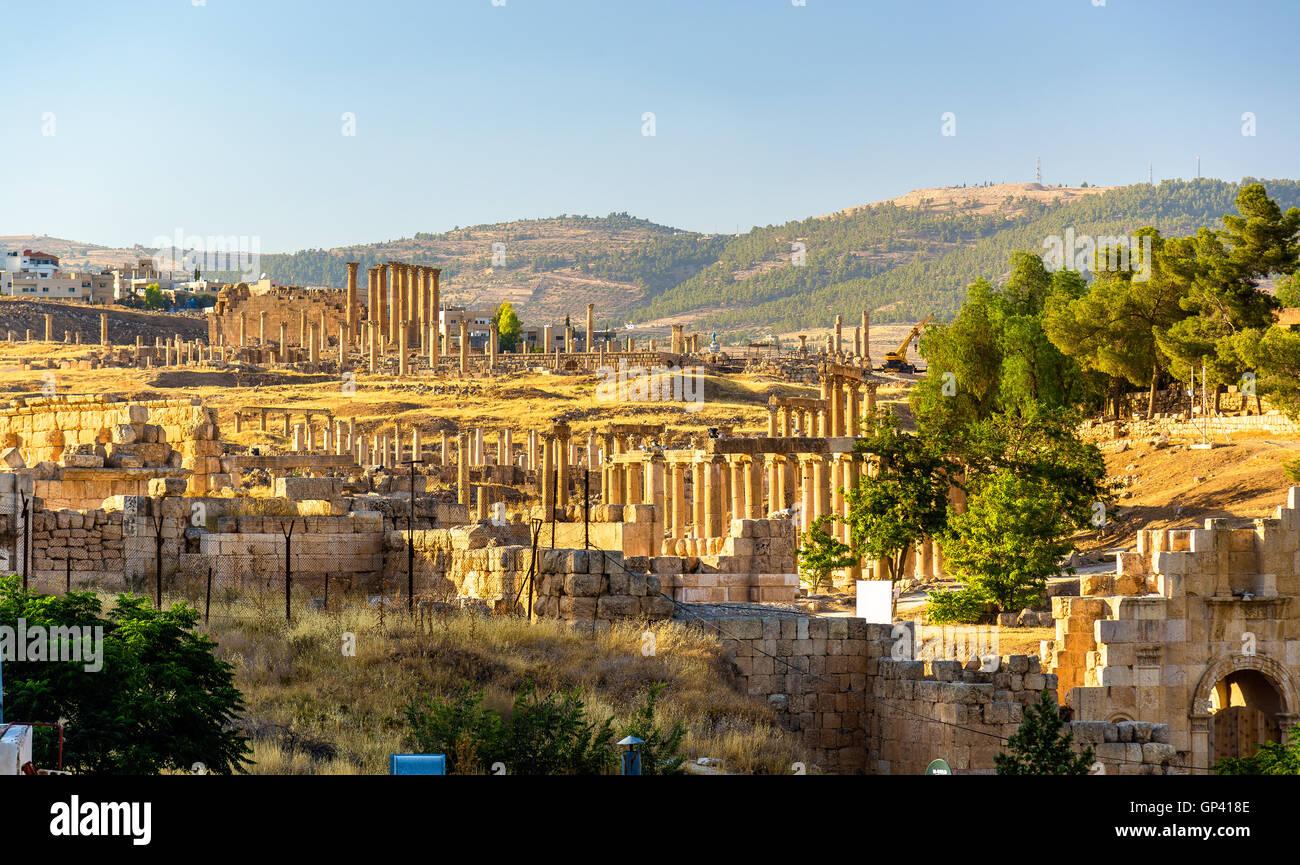 The Roman city of Gerasa - Jordan - Stock Image