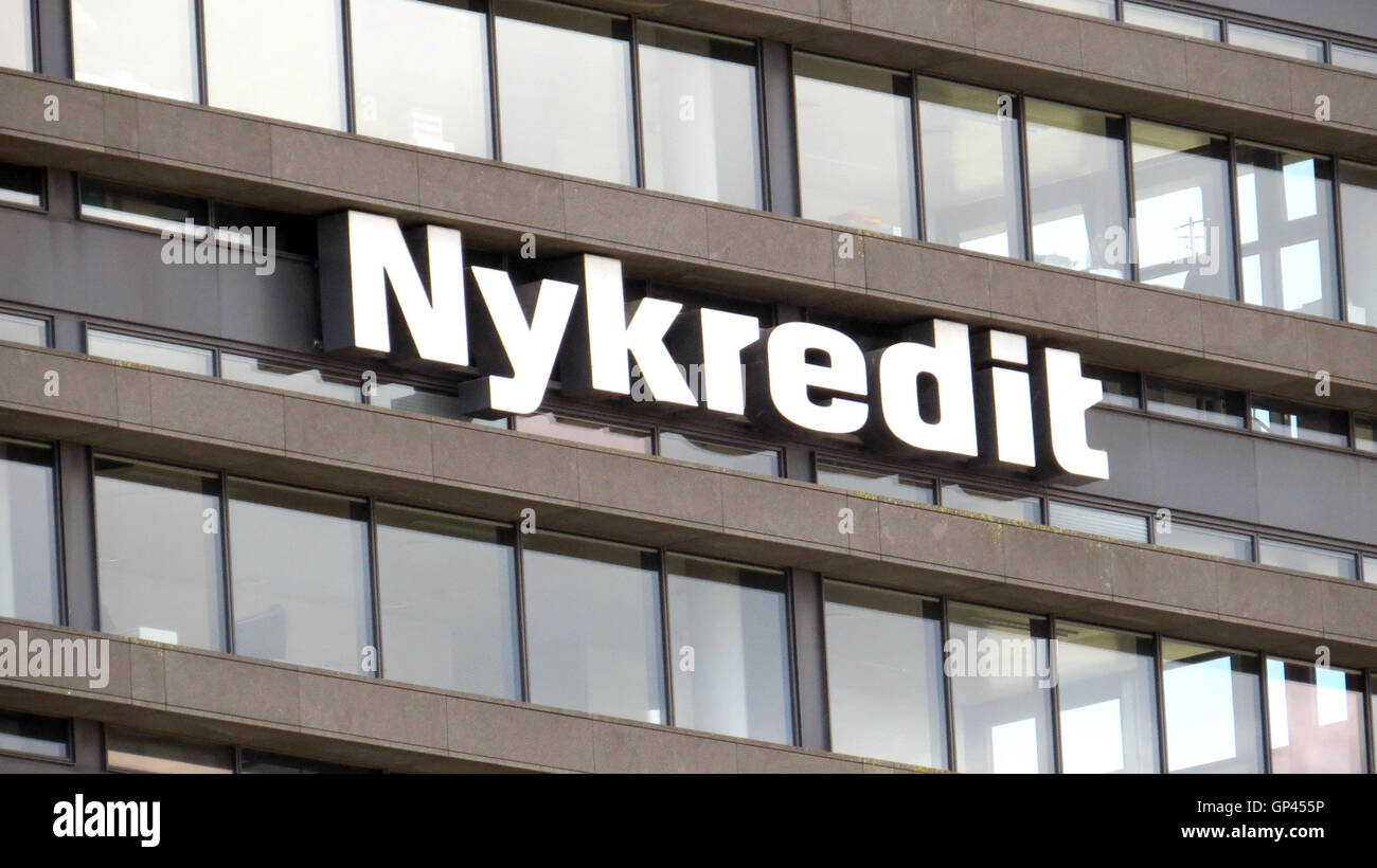 NYKREDIT headquarters in Copenhagen, Denmark. Photo Tony Gale - Stock Image