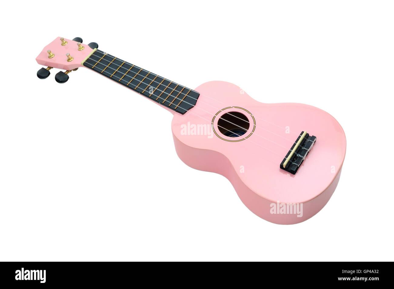 Pink Ukulele Stock Photo