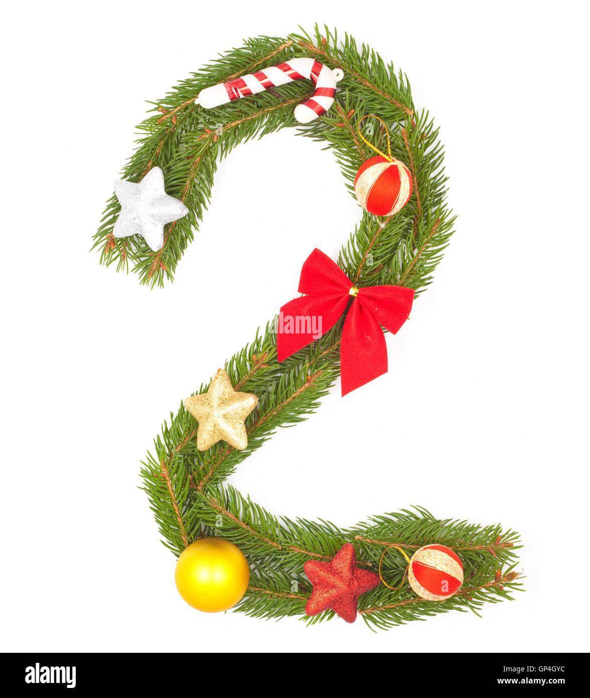 Christmas Alphabet - Stock Image