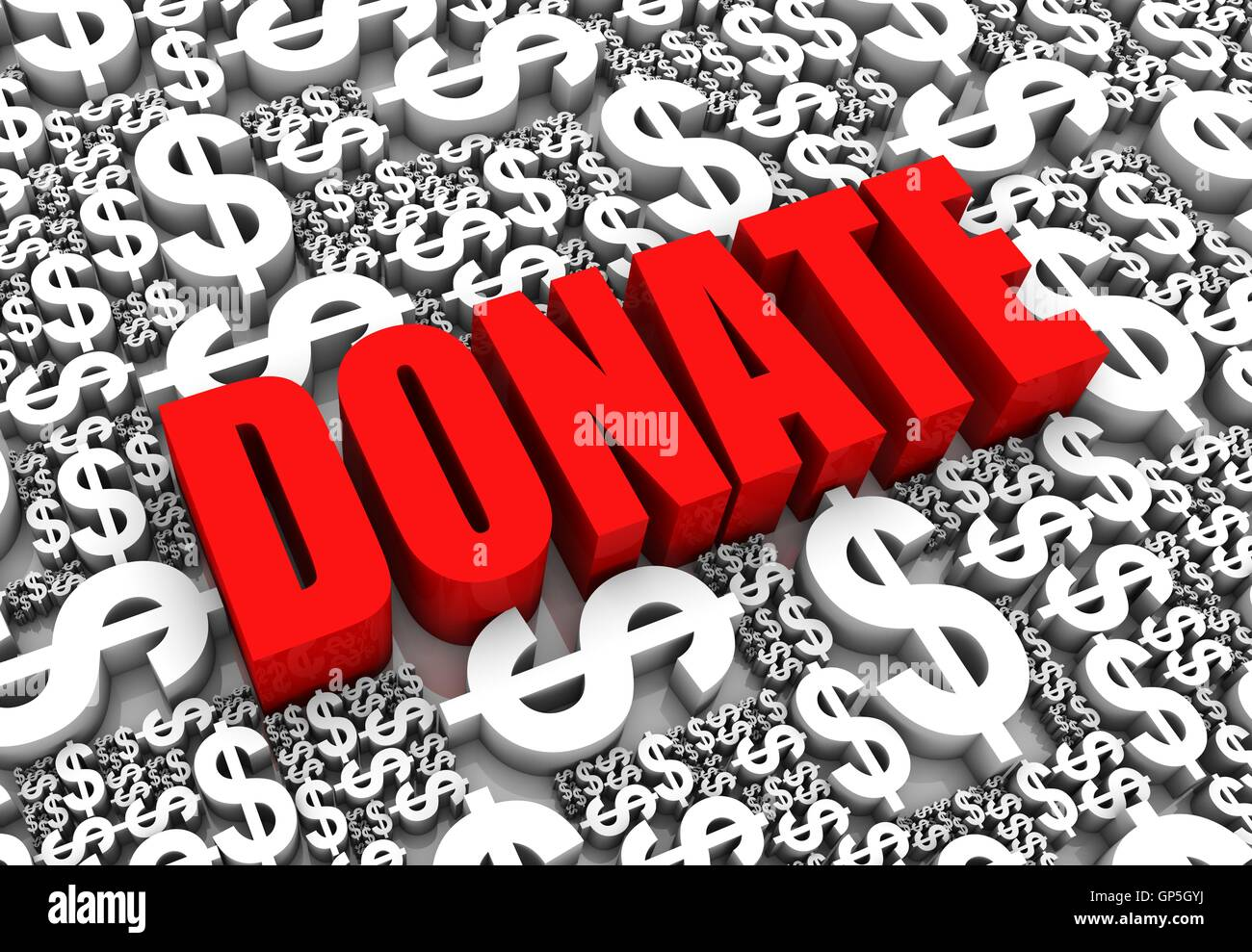 Donate - Stock Image
