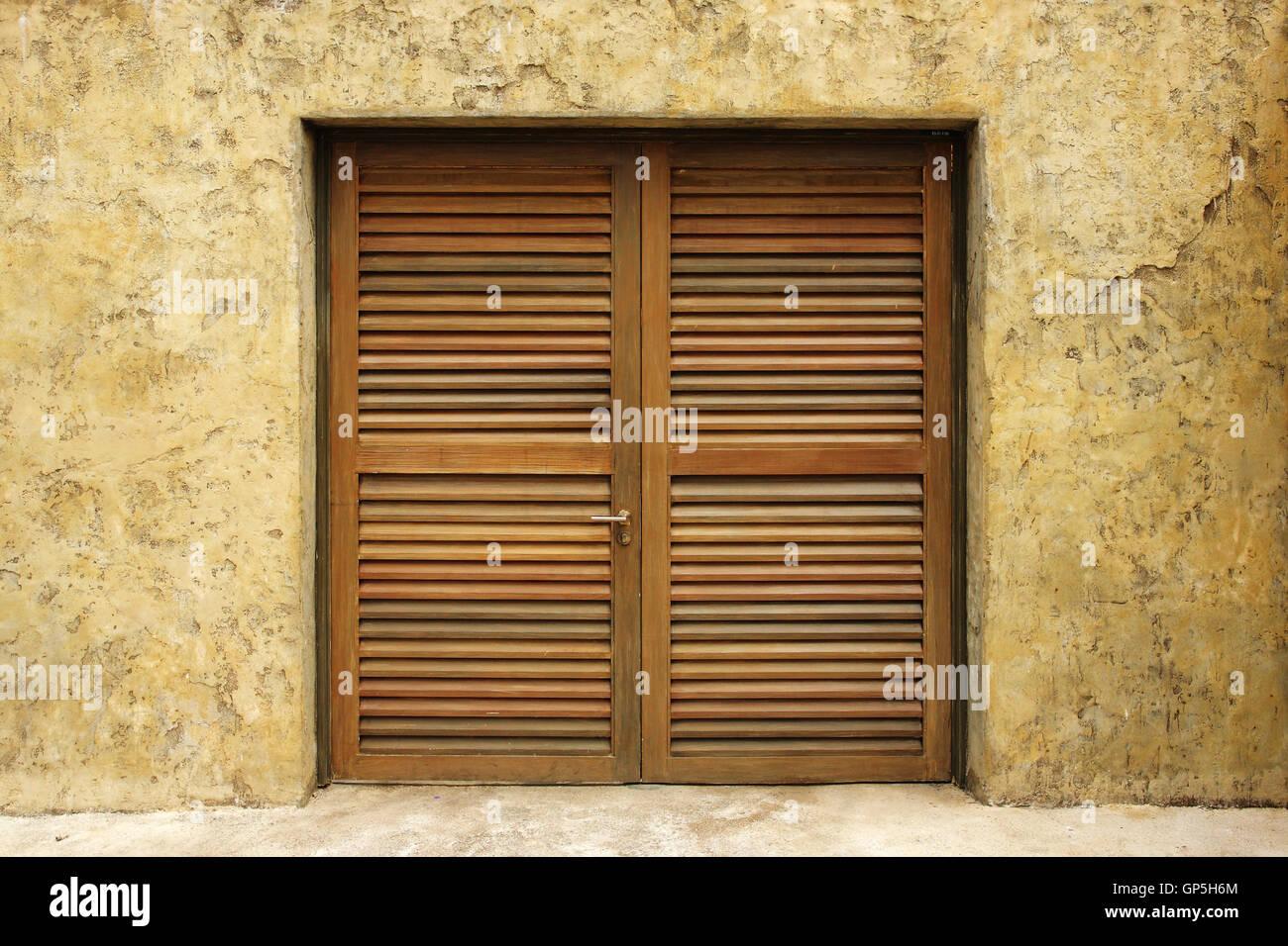 Wooden doors - Stock Image