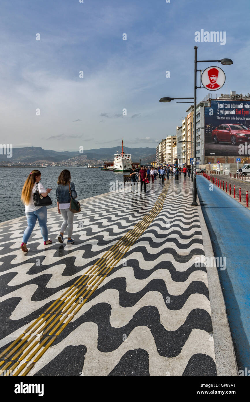 A View From Kordon To Pasaport Pier In Izmir City Turkey Stock Photo Alamy