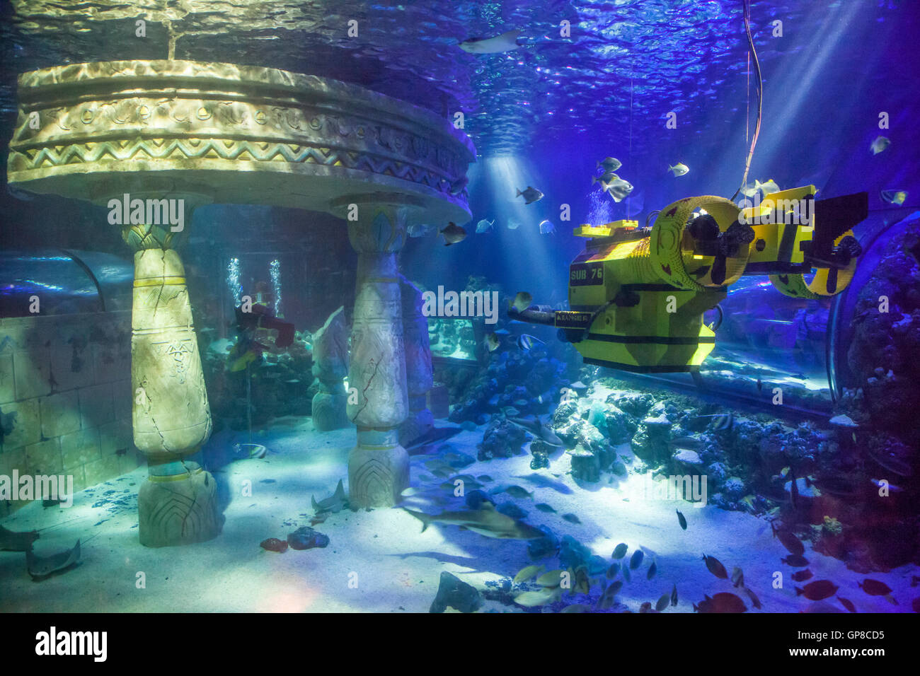 Submarine at the Legoland Atlantis - Stock Image